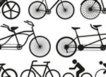 12 Bicycle Silhouette Vector Pack