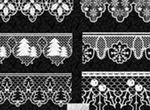 Christmas Lace Brushes