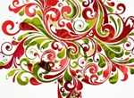 Creative Floral Christmas Tree Vector Graphic
