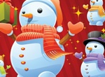 Happy And Colorful Snowman Vector Set