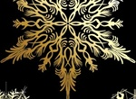 Intricate Gold Leaf Snowflake Graphic Elements