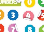 Digital Vectors Number Stickers