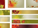 Autumn Background Vector Pack