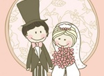 Sweet Hand Drawn Wedding Vector Graphic