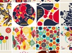 16 Colorful Floral Elements Vector