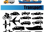 Transport Vehicle Icons & Silhouettes Pack