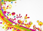 Happy Abstract Rainbow Party Illustration