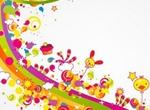Happy Abstract Rainbow Party Illustration