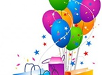 Festive Gift Bags Balloons Vector Graphic