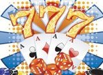 Casino Theme Card Chips Vector Graphic