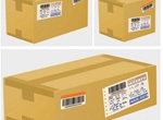3 Shipping Cardboard Vector Boxes
