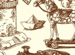 Vintage Hand Drawn Toys Vector Graphics