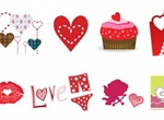 Valentines Heart Vector Graphics Set