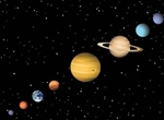 Realistic Outer Space Planets Vector Set
