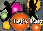 Let's Party Music Vector Poster