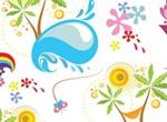 Sun Sea Summer Fun Vector Graphics