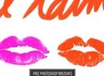 Free Love Kisses Photoshop Brush Set