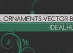 5 Floral Ornaments Vector Brushes