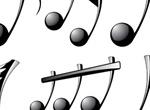 Glossy Black Musical Notes Vector Set