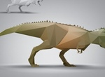 Triangle Polygon Dinosaur Vector Model