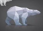 Triangle Polygon Model Bear Vector Graphic