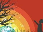 Set Of 2 Bright Vector Rainbows