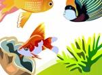 Colorful Vector Fish In Ocean