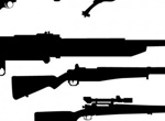 21 WW 2 Weapons Silhouettes Vector Set