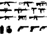 21 Modern Weapon Silhouettes Vector Pack