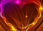 Electric Glow Valentine's Heart Vector Graphic