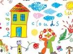 Children's Colorful Drawings Vector Set
