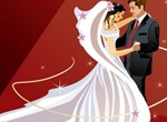 Bridal Couple Wedding Vector Illustration