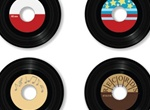 4 Vintage Vector Vinyls 45 Record Set