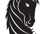 Proud Black Horse Head Vector Graphic