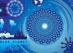 Blue Planet Vector Art Graphics Set
