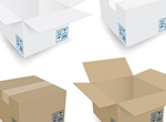 4 Realistic Vector Cardboard Boxes Set