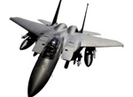 Military Eagle F15 Fighter Jet Vector Graphic