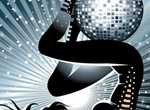 Dynamic Disco Party Girl Vector Poster