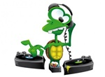 Cartoon DJ Turtle Mixing Music Vector Graphic