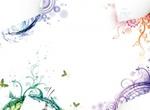 Set Of 4 Floral Background Note Vectors