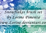Snow Flakes Brush Set