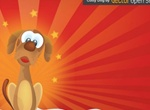 Cute Cartoon Dog Vector Graphic