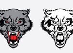 Vicious Wolf Vector Graphic Set
