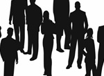 Silhouettes Of Business People Vector Set
