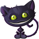 Cat, Cheshire, Halloween Icon