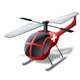Helicopter, Medical, Transportation, Vehicle Icon