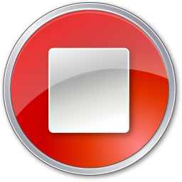 Red, Stop Icon