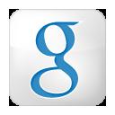 Box, Google, Social, White Icon