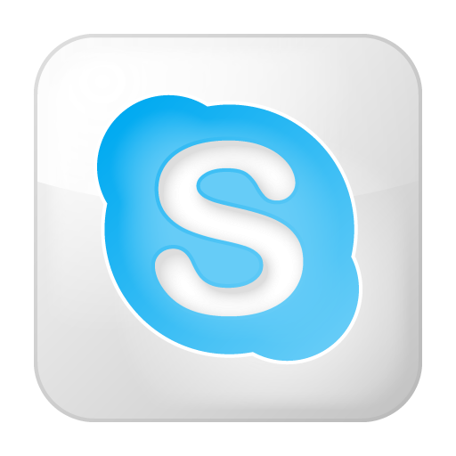 Box, Skype, Social, White Icon