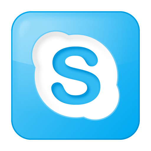 Blue, Box, Skype, Social Icon
